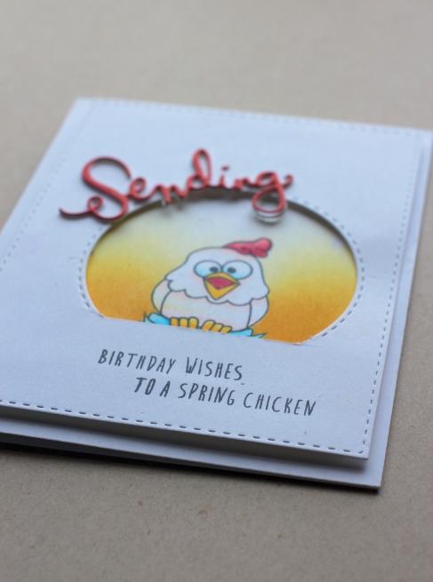 Spring Chicken Card