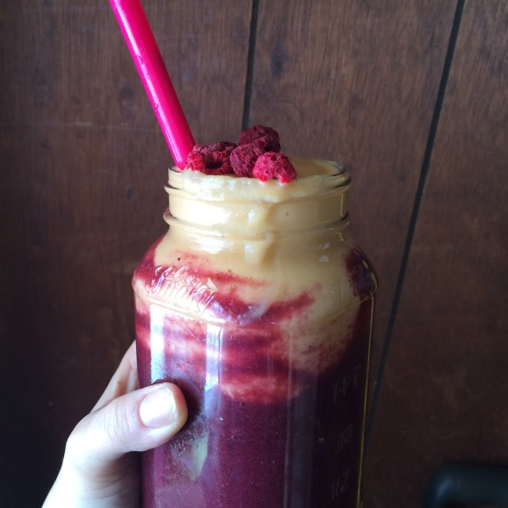Beet Berry Layered Smoothie
