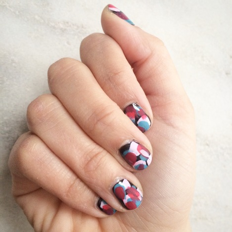 Abstract Colorful nails