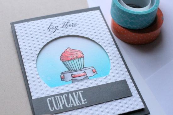 Wplus9 Cupcake Card