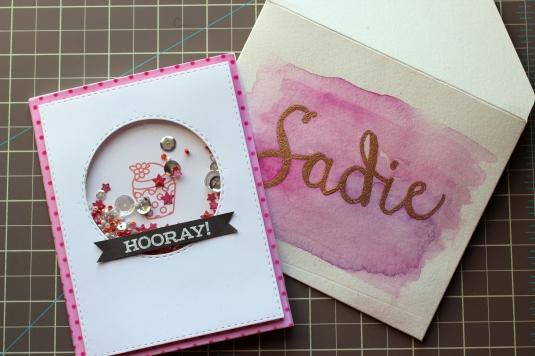 Birthday Shaker Card & Envelope